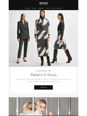 HUGO BOSS (UK) - Pattern in focus
