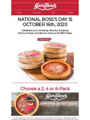 Giordano's Pizza - Ship pizza LIKE A BOSS!