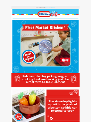 Little Tikes - Introducing: the First Market Kitchen! 🍅