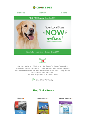 Choice Pet Supply - A Warm Welcome from Choice Pet