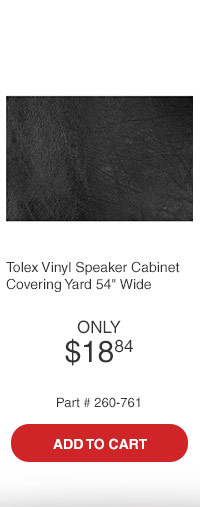 Parts Express Tolex Vinyl Speaker Cabinet Covering Black Taco Yard 54in Wide