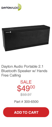 Dayton Audio MARK1 Portable 2.1 Bluetooth Brick Speaker with Hands Free Calling