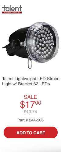 Talent MINI-ZOT Lightweight LED Strobe Light with Bracket 62 LEDs
