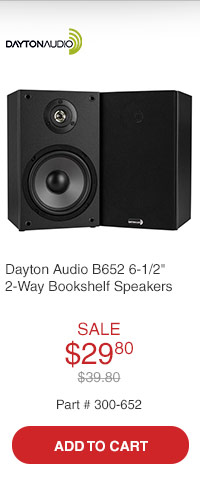 Dayton Audio B652 6-1/2in 2-Way Bookshelf Speaker Pair