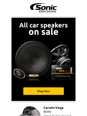 Sonic Electronix - Check out all of our car speakers on sale!