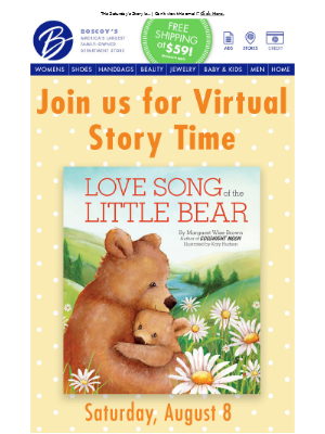Join Us On Facebook For Story Time!