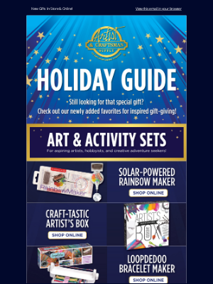 Artist & Craftsman Supply - 🌟 Holiday Gift Guide! 🌟