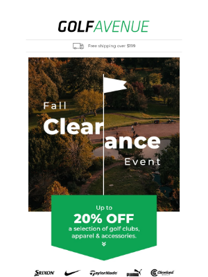 Golf Avenue (CA) - This Weekend, Save Up to 20% On Golf Gear!