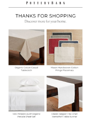 Pottery Barn - Thanks for your purchase!