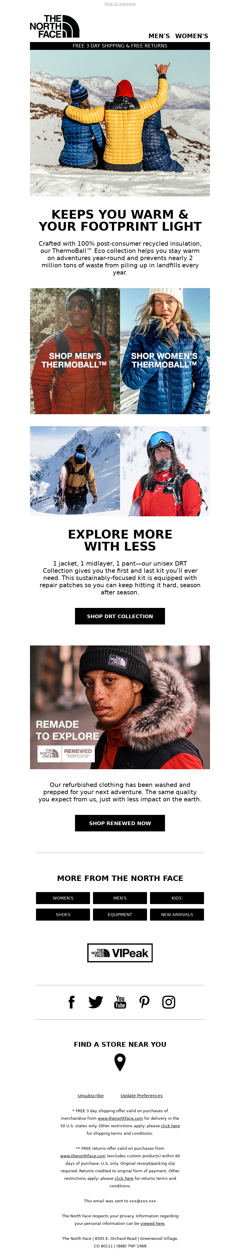 The North Face - Stay warm in our ThermoBall™ Eco collection