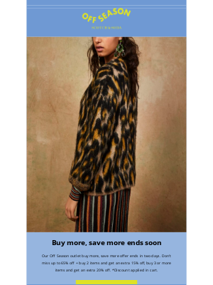 Scotch & Soda - Off Season outlet: Buy more, save more ends soon