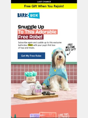 BarkBox - 😱 Don't stress but… your FREE gift is almost gone! 😱