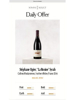 SommSelect - Syrah Mastery from One of the Rhône's Premier Talents