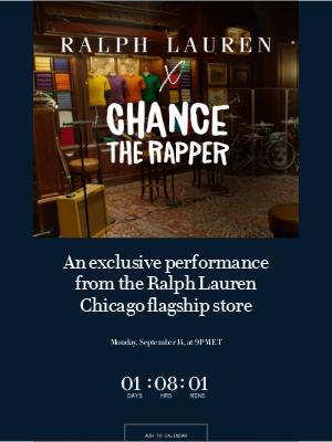 Ralph Lauren - A Chance the Rapper Performance Coming Soon