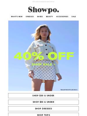 Showpo - 40% Off Flash Sale