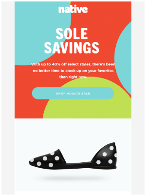 Native Shoes - Save BIG On Adult Styles Too! 😍