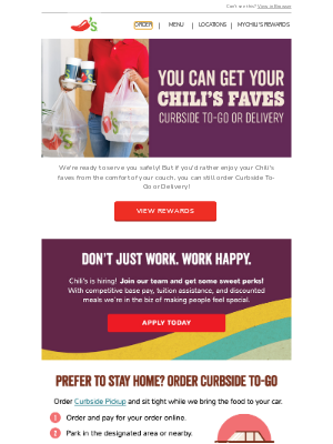 Chili's Grill & Bar - Delivery? From Chili's? You betcha!