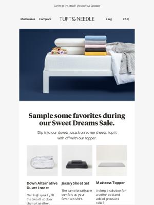 Tuft & Needle - Savor these deals.
