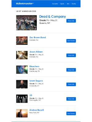 Ticketmaster - Jason Aldean, Zac Brown Band, Dead & Company & more near you!