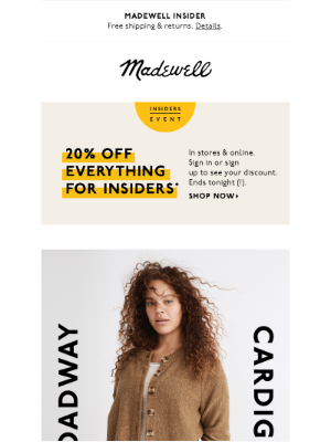 Madewell - You'll probably wear it with everything