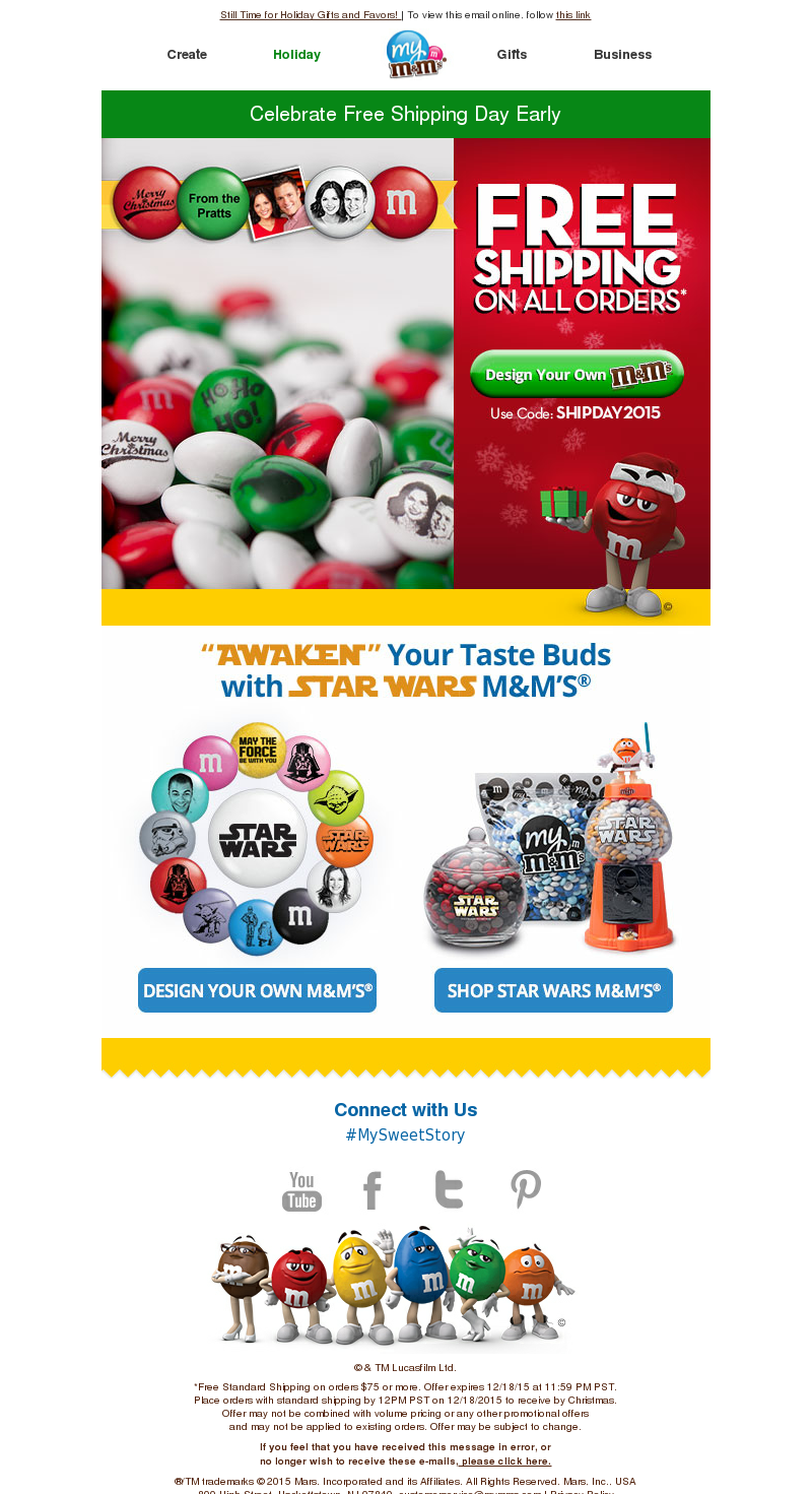 Still Time for Holiday Gifts and Favors!   To view this email online, follo
