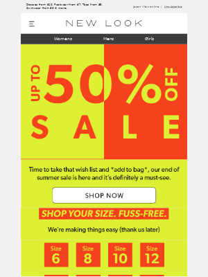 New Look (UK) - SALE! UP TO 50% OFF 😍