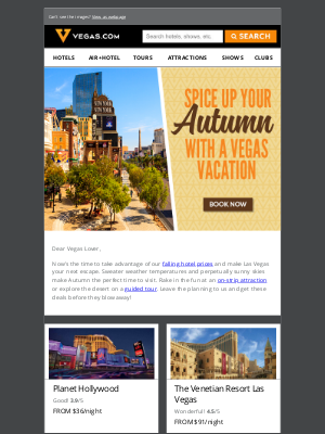 Vegas - Fall Into Savings! Low hotel rates, starting at $19