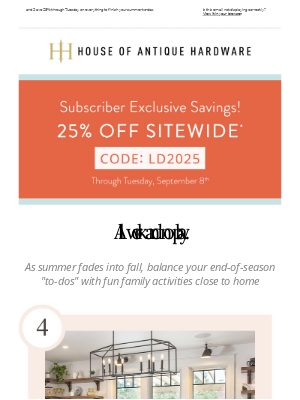 House of Antique Hardware - Celebrate With These Family Activities!