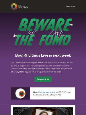 Litmus - Email tricks & treats at Litmus Live—next week!