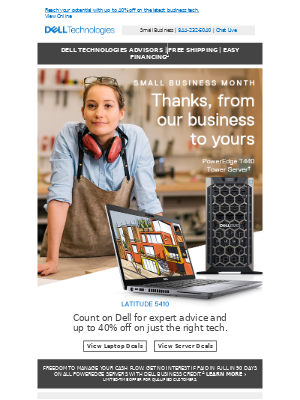 Small Business Month | Our thanks, your savings.