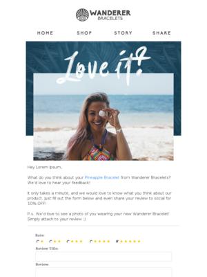 Share the Bali Love -- 10% OFF!