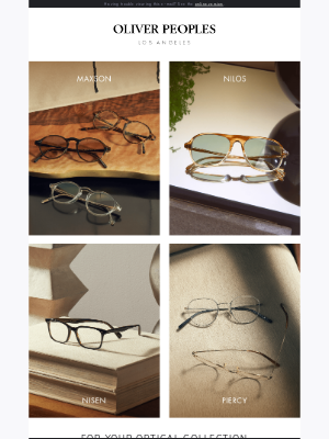 Oliver Peoples - The New Optical Collection is here
