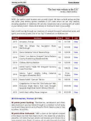 K&L Wine Merchants - K&L Top 10 Picks