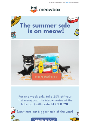 meowbox - Shop Our Biggest Sale Of The Year 😻