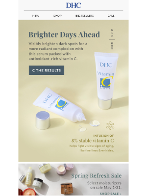 DHC - Brighten up! Our new skincare drop is bursting with vitamin C ☀️
