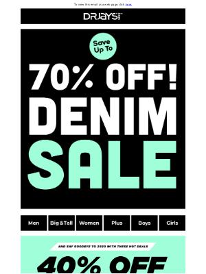 DrJays.com - Denim BLOWOUT - up to 70% Off!