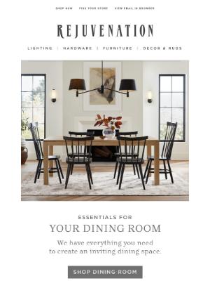 Special for you: Shop dining room essentials