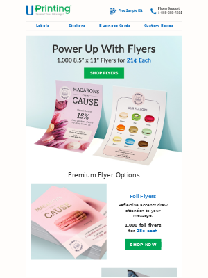 UPrinting - Power Up With Flyers | Only 21¢ Each