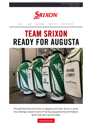 Srixon - The First Major is Upon Us | Srixon