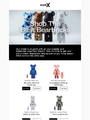 🏠 Upgrade Your Crib With These Bearbricks