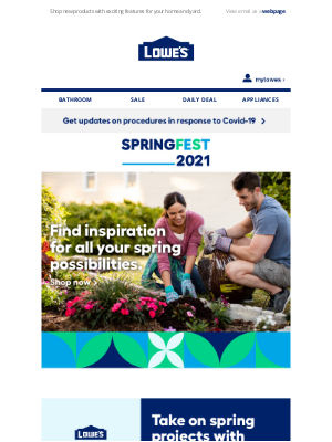 Lowes Canada - Bring home the latest innovations this spring.