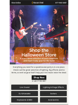 The Halloween Store is open