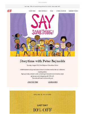 Want to attend our Back-to-School Storytime & Shopping event?