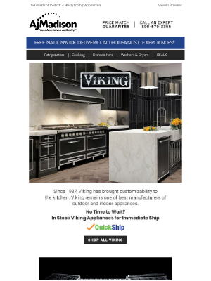 AJ Madison - Come Home to a Viking Kitchen -- Buy One, Get One + Save 5%
