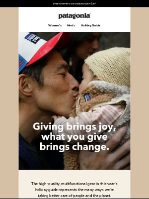 Patagonia - The joy of giving better