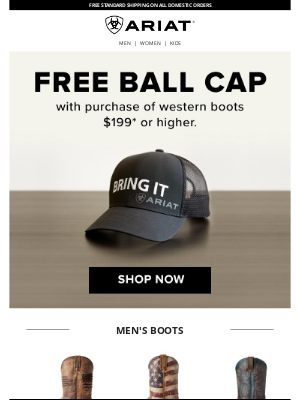 Ariat International Inc - New Boots and a Free Cap!