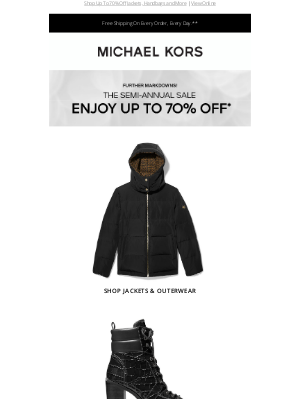 Michael Kors - Further Markdowns On Winter Styles!