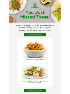Home Chef - Enjoy these Home Chef meals