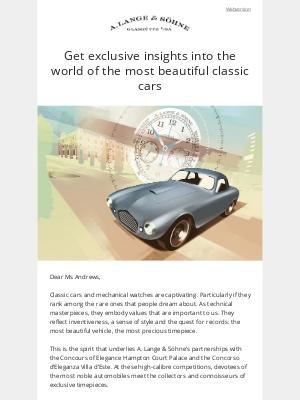 A. Lange & Söhne - A passion for classics
