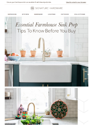 Signature Hardware - How To Select The Perfect Farmhouse Sink